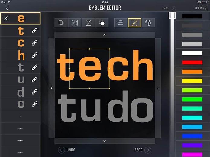 Edite seu logo (Foto: Reprodução/Murilo Molina)