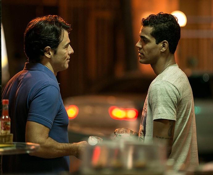 Ivan e Sérgio se encontram novamente (Foto: Inácio Moraes/Gshow)