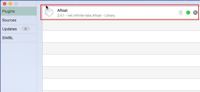 Afloat instalado no mySIMBL (Foto: Reprodução/Edivaldo Brito)