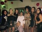 Marlene Mattos comemora aniversário com famosos no Rio