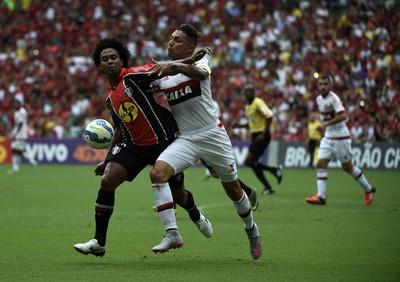 Guerrero Flamengo x Joinville (Foto: André Durão / GloboEsporte.com)