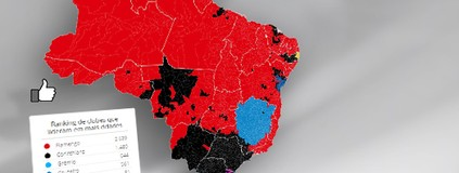 Confira o mapa das curtidas  do time do Joinville no Facebook (infoesporte)