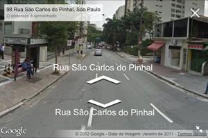 Street View mostra imagem da cidade de São Paulo (Foto: Reprodução)