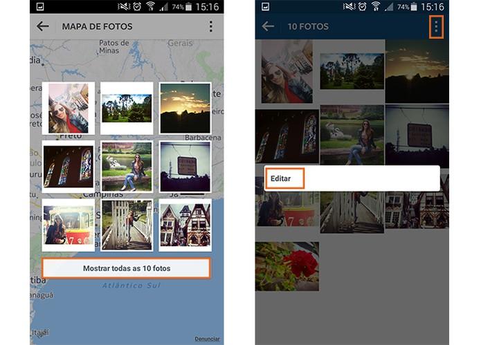 Edite as imagens do Mapa de Fotos do Instagram (Foto: Reprodução/Barbara Mannara)