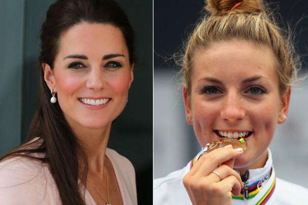 Kate Middleton e a atleta Pauline Ferrand-Prevot (Foto: Getty Images)