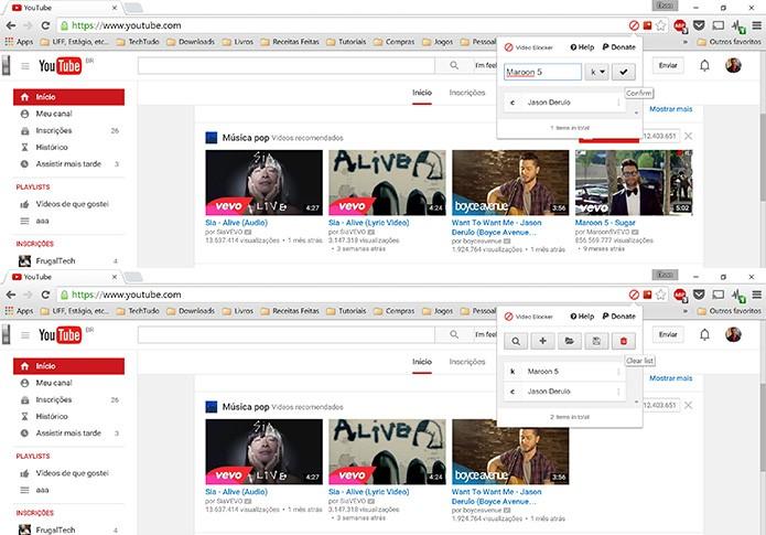 Video Blocker bloqueia canais ou tópicos do YouTube em poucos passos (Foto: Reprodução/Elson de Souza)