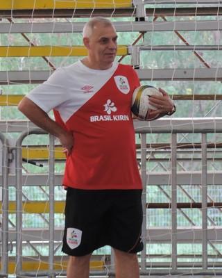 Serginho Schiochet, técnico do Sorocaba e da seleção brasileira de futsal (Foto: Emilio Botta)