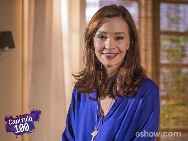 Julia faz balanço sobre os cem capítulos de Helena (Foto: Paulo Belote/TV Globo)