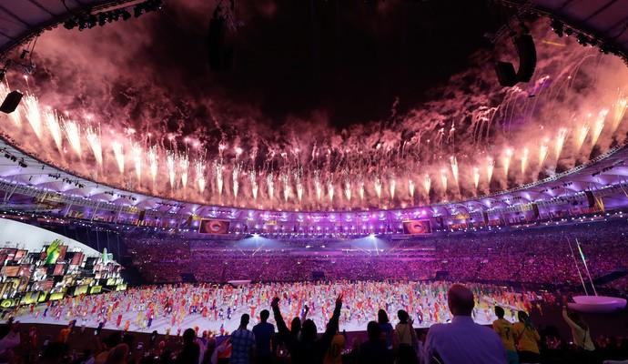 Cerimônia de abertura Olimpíada (Foto: comitê olímpico do Canadá)