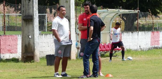 Rodrigo Caetano e Kuki, ex-Náutico (Foto: Fred Gomes/ GloboEsporte.com)