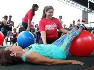 Atividades físicas fizeram sucesso durante a programação (Foto: Katiúscia Monteiro/ Rede Amazônica)