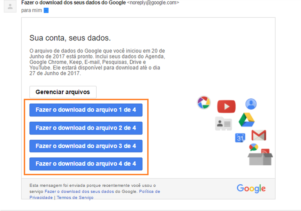 Como descobrir e baixar tudo que o Google sabe sobre você na Internet (Foto: Reprodução/Luana Marfim)