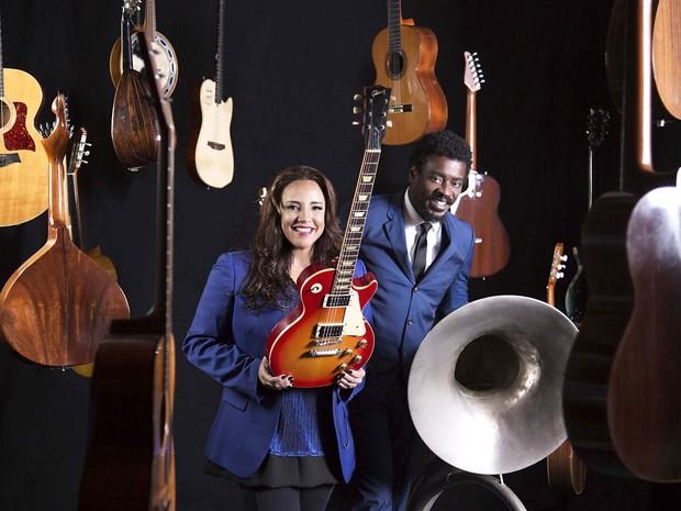 Os cantores Ana Carolina e Seu Jorge, que voltam a se apresentar juntos após uma década (Foto: Leonardo Aversa/Divulgação)