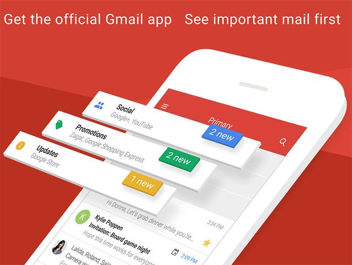 Gmail para iPhone recebe atualização e fica mais rápido (Foto: Divulgação/Gmail)