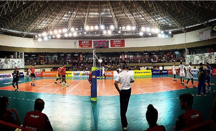Sesi-SP Taubaté Superliga Masculina Vôlei (Foto: Tiago Maranhão/ SporTV)