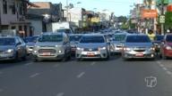 Taxistas fazem protesto em Santarém contra a implantação do Uber
