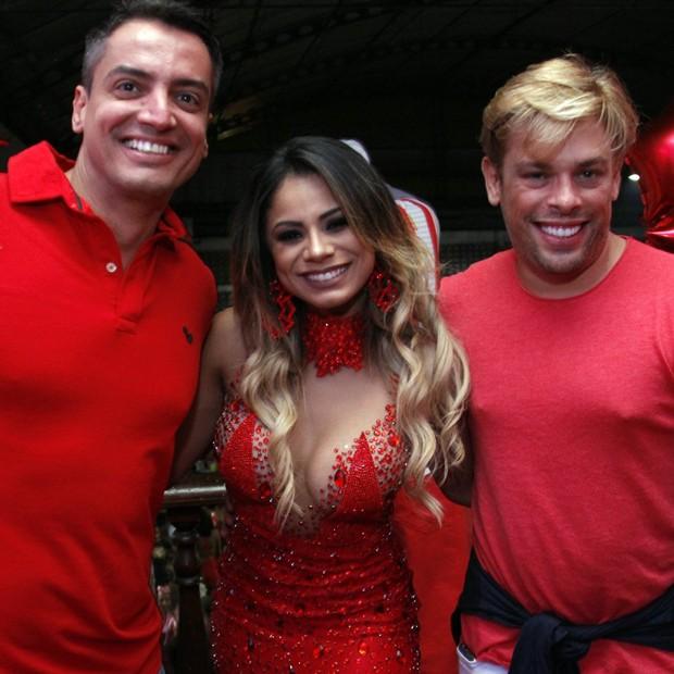 Léo Dias, Lexa e Bruno Chateubriand (Foto: Marcos Ferreira / Brazil News)