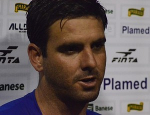 Rafael Franciscatti fez o gol da vitória contra o Sergipe (Foto: João Áquila/GLOBOESPORTE.COM)