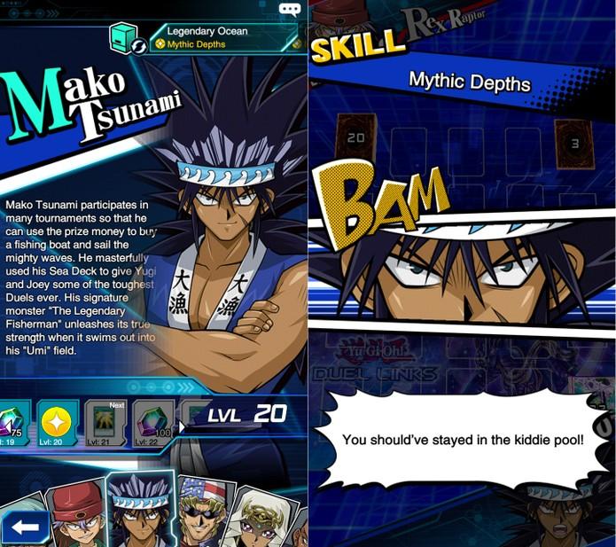 Yu-Gi-Oh! Duel Links: Mako é outro duelista com excelentes skills (Foto: Reprodução/Vinícius Mathias)