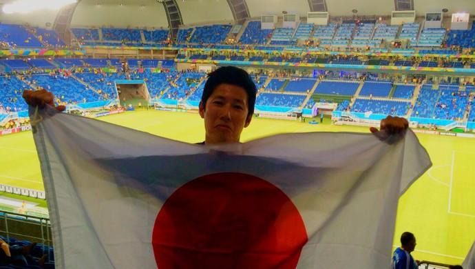 torcedor Japão x Grécia (Foto: Sota Iwazaki / Arquivo Pessoal)