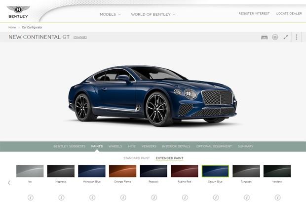 Bentley Continental GT já está disponível em configurador (Foto: Reprodução)