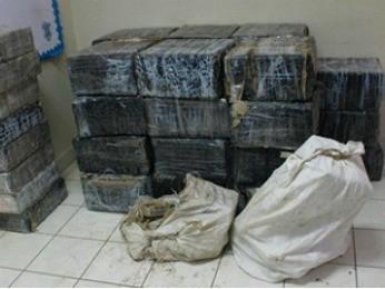 Mais de 900 quilos de droga foram apreendidos com brasileiros em Honduras (Foto: Divulgação/ Polícia Federal)