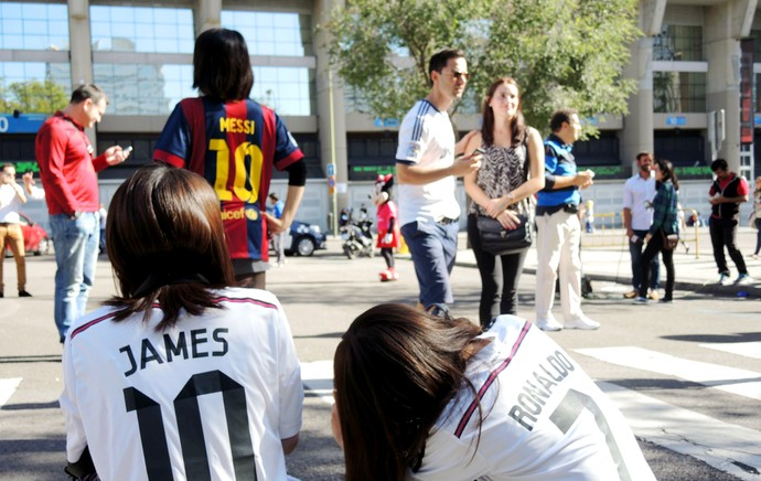 Real Madrid x Barcelona - ambiente torcedores (Foto: Cassio Barco)