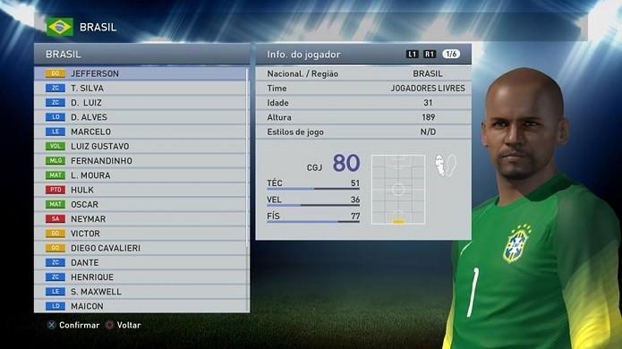 Opte por um jogador para ser substituído da convocação (Foto: Reprodução/Thiago Barros)