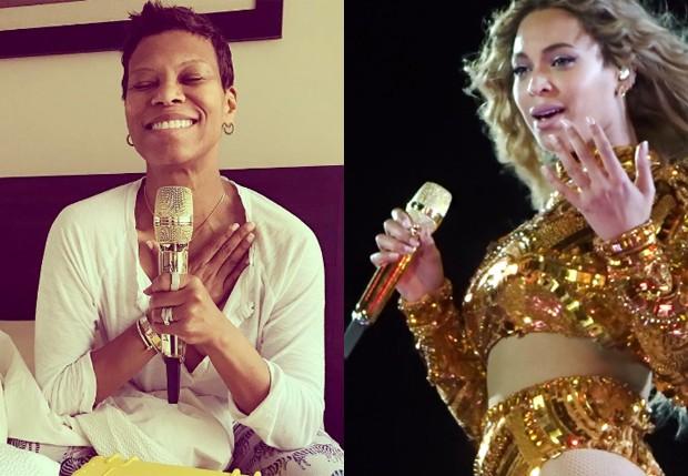 CeCe Hendriks comprou microfone da Formation Tour, de Beyoncé (Foto: Reprodução/Instagram e AKM-GSI)