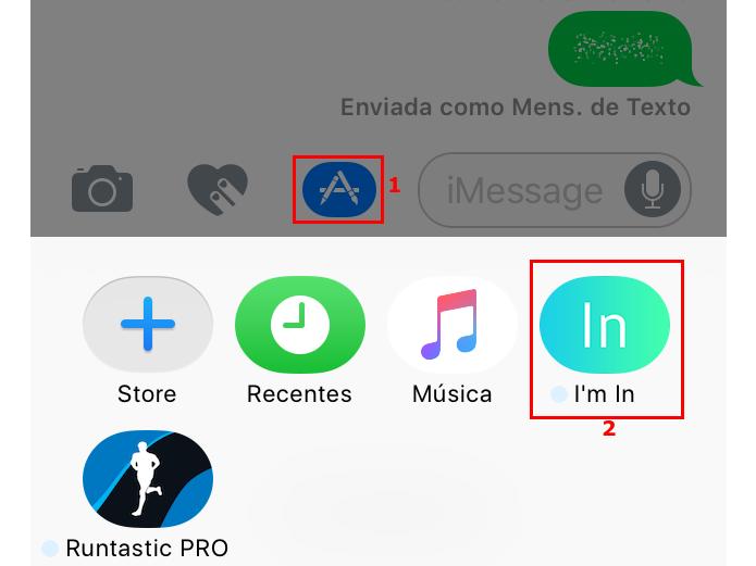 Inserindo apps nas conversas do iMessage (Foto: Reprodução/Edivaldo Brito)
