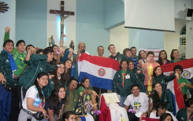Paraguaios estão em São José para Jornada Mundial da Juventude (Foto: Arquivo Pessoal)