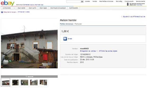 Anúncio alertava comprador que residência teria sido palco de duplo assassinato (Foto: Reprodução)