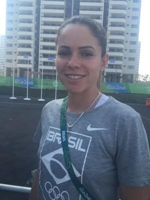 Erika, zagueira da seleção brasileira (Foto: Cíntia Barlem)