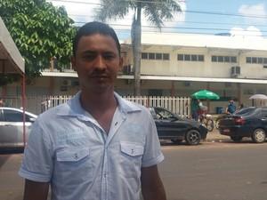Erikelton Gonçalves, Trabalhadores, HE, saúde, ato, Macapá, Amapá, (Foto: Fabiana Figueiredo/G1)