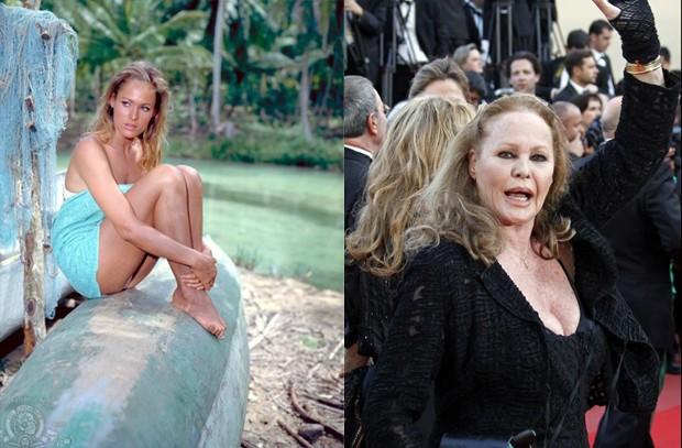 Ursula Andress: no papel de Honey Ryder em '007 contra o satânico Dr. No' (1962) e em Cannes em 2010 (Foto: Divulgação/MGM/Reuters)