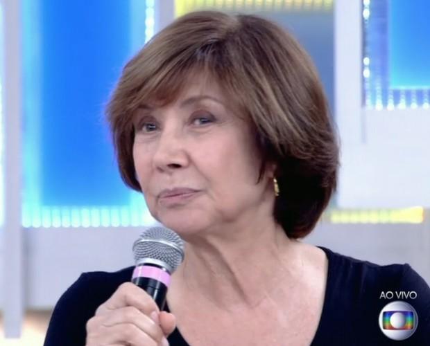 Ana Rosa diz querer envelher bem e se tornar uma velhinha enxutinha (Foto: Reprodução/ TV Globo)