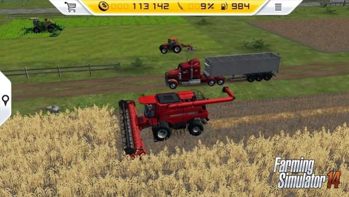 Farming Simulator 14 é a versão de Farming Simulator para smartphones e portáteis (Foto: Divulgação) (Foto: Farming Simulator 14 é a versão de Farming Simulator para smartphones e portáteis (Foto: Divulgação))
