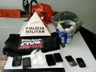 Pai, filho e homem são presos com drogas em Pedra Dourada, MG