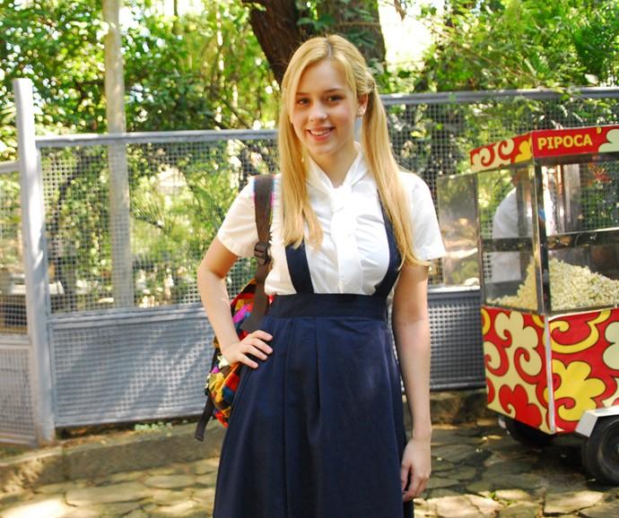 No ano seguinte, Sophia Abrahão atuou na sua segunda temporada de Malhação (Foto: João Miguel Júnior / TV Globo)