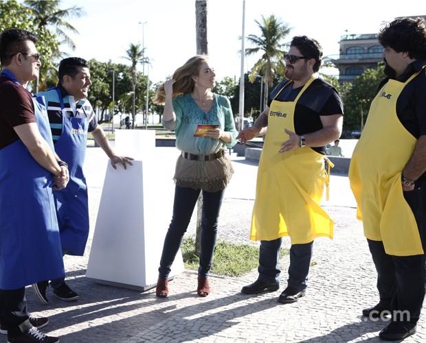 Angélica comanda batalha entre as duplas (Foto: Inácio Moraes/TV Globo)