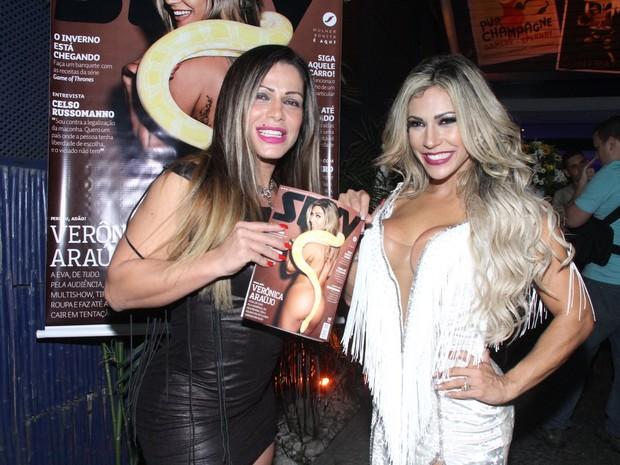 Fabiana Andrade e Verônica Araújo em festa na Zona Oeste do Rio (Foto: Thyago Andrade/ Foto Rio News)