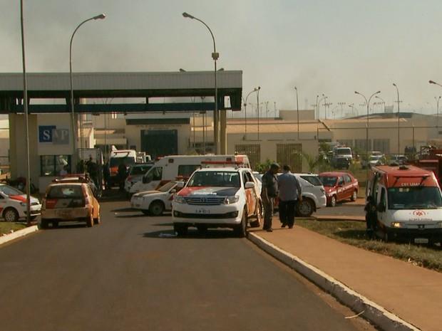 CPP em Jardinópolis continua movimentado, um dia após rebelião e fugas (Foto: Reprodução/EPTV)