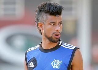 Leo Moura treino Flamengo (Foto: Ivo Gonzalez / O Globo)