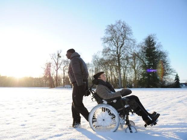 François Cluzet e Omar Sy no fime 'Intocáveis' (Foto: Reprodução)