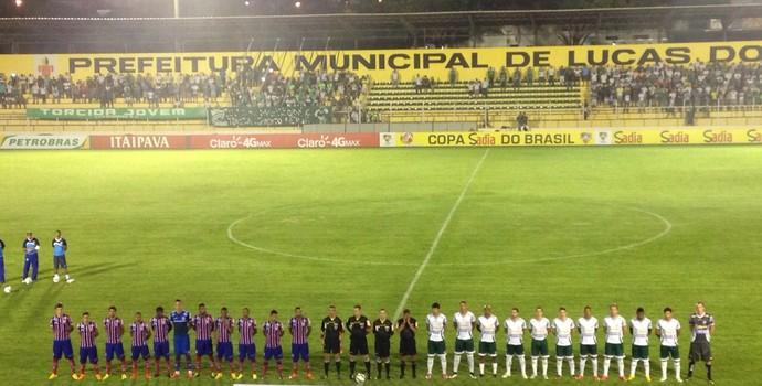 Luverdense, Bahia, Passo das Emas, Copa do Brasil (Foto: João Carlos Morandi/TVCA)