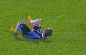 Moisés rompe o ligamento do joelho e fica fora por 6 meses no Grêmio
