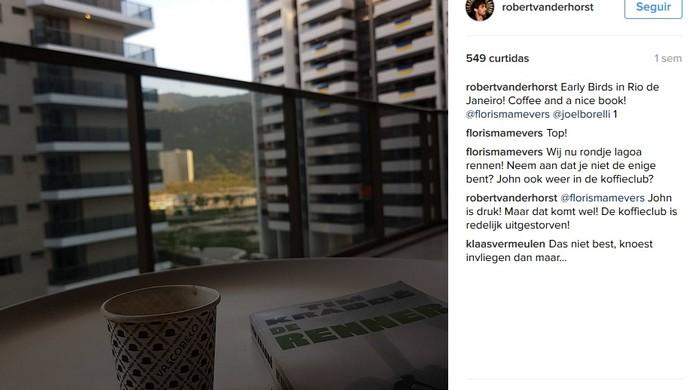 Postagem feita por Robert na Vila Olímpica do Rio de Janeiro (Foto: Reprodução/Instagram)
