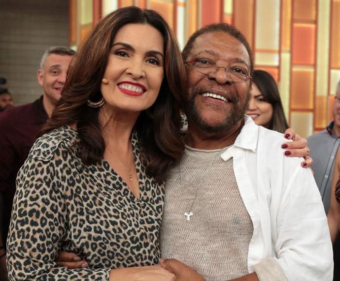 Fátima com o cantor Martinho da Vila (Foto: Isabella Pinheiro/Gshow)