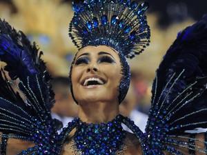 Sabrina Sato sorri para o público (Foto: Alexandre Durão/G1)
