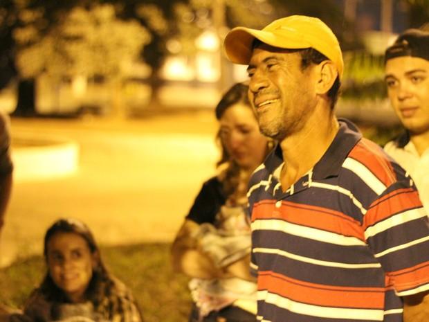 João Paulo Santos Brito, que acabou nas ruas após não encontrar emprego (Foto: Desireé Galvão/ G1)